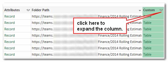 expand column