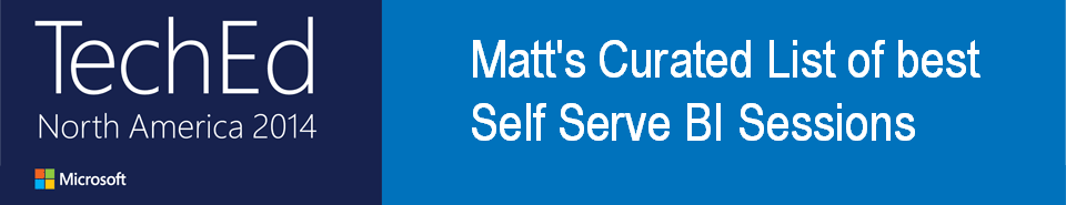 Matt's curated best self serve BI content