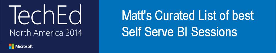 Matt's curated best self serve BI content