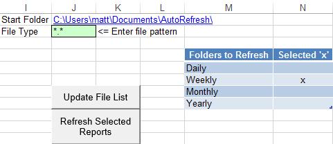 setup data