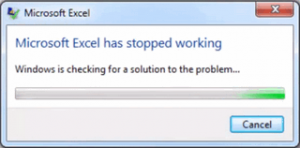excel has stopped working2