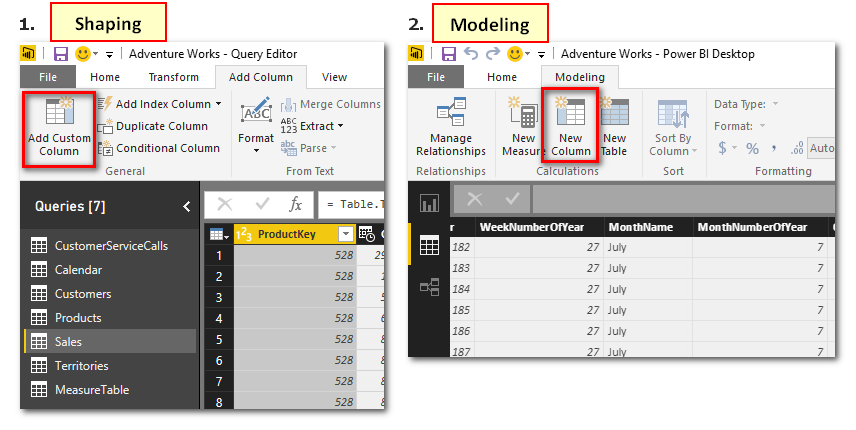 Shaping vs Modelling in Power BI