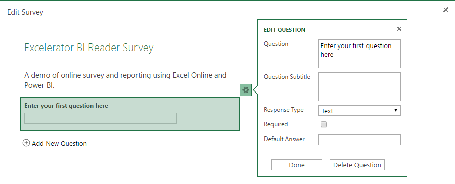 Easy Online Surveys with Power BI Reporting