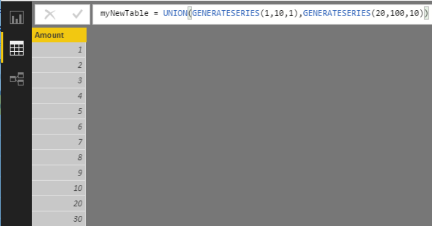 New Functions - GENERATESERIES, SELECTEDVALUE - Excelerator BI