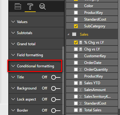 Conditional Formatting in Power BI - Excelerator BI