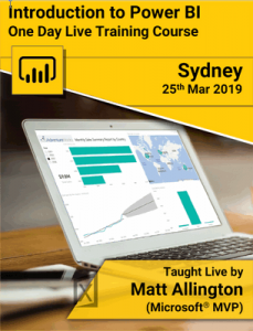 Power BI Intro Sydney March