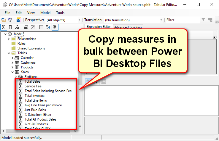 Copy measures between PBIX files