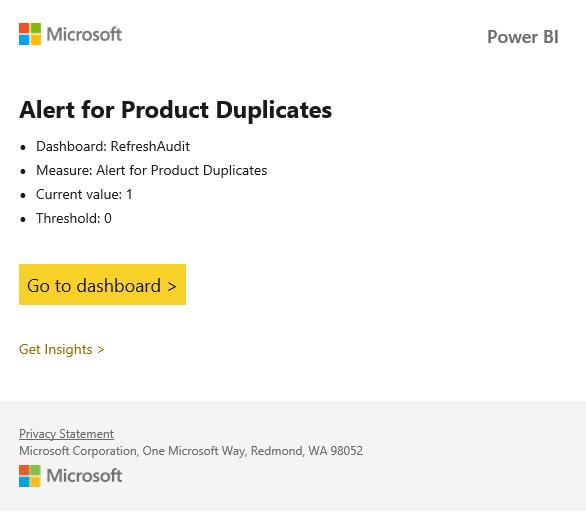 Alert For Duplicates