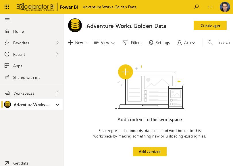 Golden Workspace Open