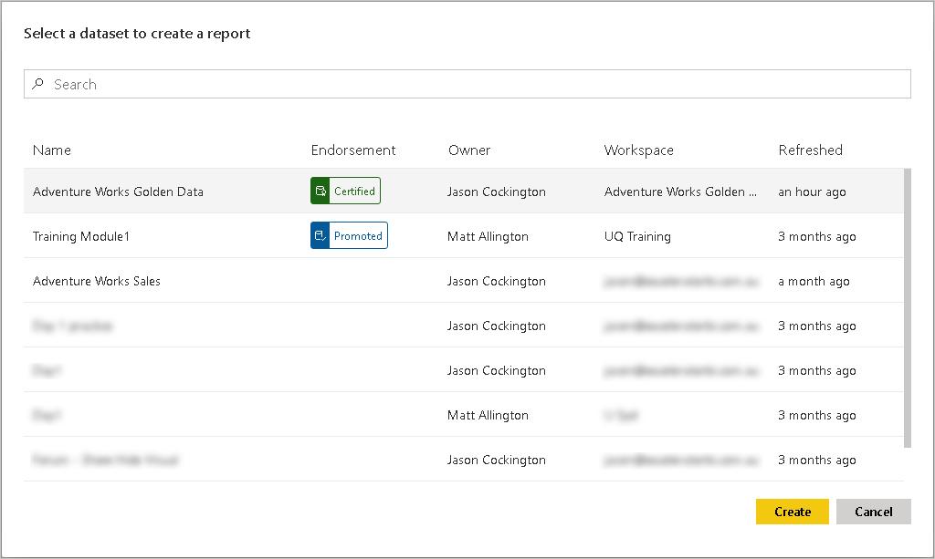 Selecting Dataset