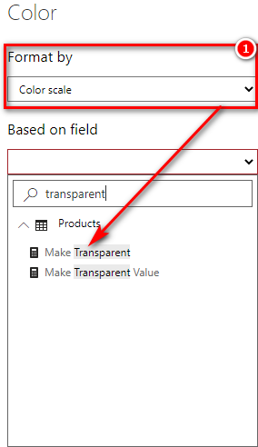 Shows Make Transparent can't be selected