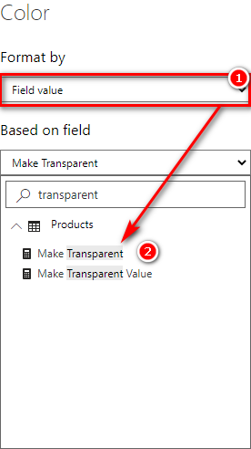 Shows Make Transparent can be selected
